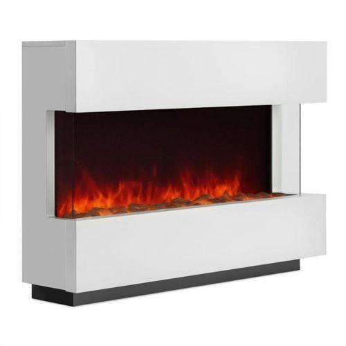 studio-1 kominek elektryczny imitacja płomieni led 750/1500 w 40m²biały marki Klarstein