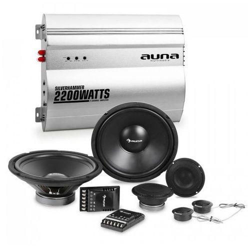Silverhammer kompletny zestaw głośników samochodowych hi-fi 2-kanałowa końcówka mocy