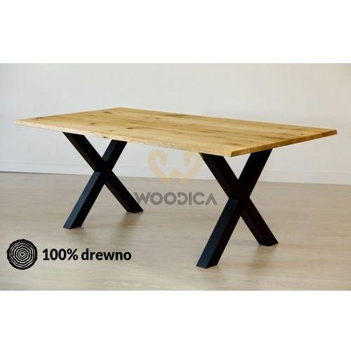 Stół dębowy na metalowych nogach 17 180x75x90 marki Woodica