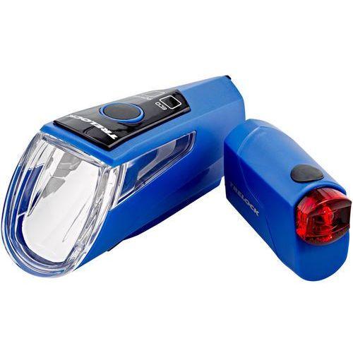 Trelock ls 460 i-go power+ls 720 zestaw oświetlenia niebieski 2018 oświetlenie rowerowe - zestawy