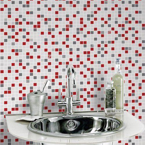 Tapeta winylowa Graham & Brown Checker black & white, red 20-508 - produkt z kategorii- Tapety