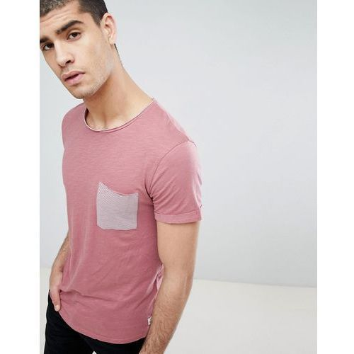 Tom Tailor T-Shirt With Stripe Pocket In Pink - Pink, w 2 rozmiarach