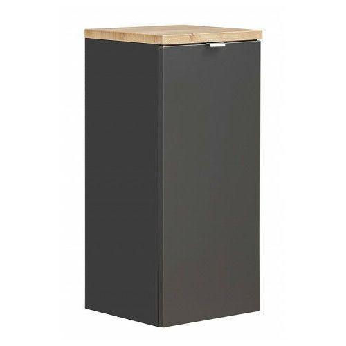 Półsłupek łazienkowy z koszem na pranie - malta 4x czarny mat marki Producent: elior
