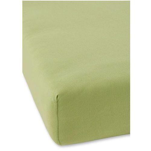 Prześcieradło z gumką z wysokiej jakości dżerseju zielony marki Bonprix