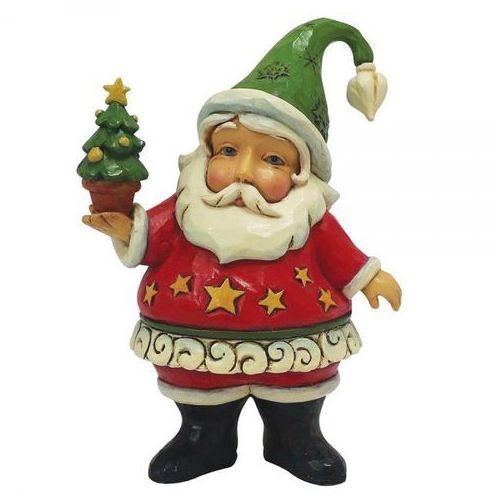 Jim shore Mikołaj z choinką mini santa 4058810 figurka ozdoba świąteczna