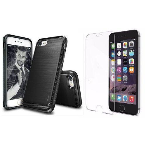 Zestaw | rearth ringke onyx black | obudowa + szkło ochronne perfect glass dla modelu apple iphone 7 plus marki Rearth / perfect glass