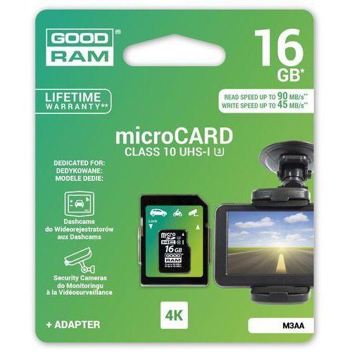 Goodram Karta pamięci micro sdhc 16gb mlc u3 uhs-i + adapter + zamów z dostawą jutro! (5908267913482)