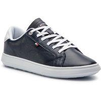 c7ea3d956f7c6 Sneakersy TOMMY HILFIGER - Essential Leather Cupsole FM0FM01987 Midnight  403, kolor niebieski