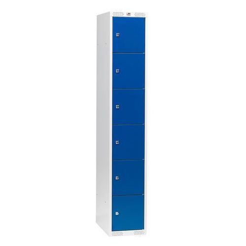 Szafa schowkowa CLASSIC 1 moduł 6 schowków w pionie 1740x300x550 mm niebieski