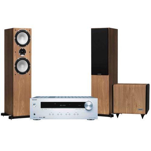 Zestaw stereo tx-8220s + tannoy mercury 7.4 dąb + sub ts 2.8 + darmowy transport! marki Onkyo