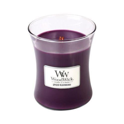 Woodwick - świeca średnia spiced blackberry 100h