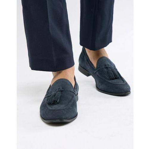 Kg kurt geiger Kg by kurt geiger tassel loafers in navy suede - blue