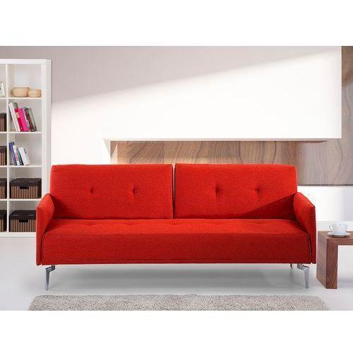 Sofa z funkcją spania marchewkowa - kanapa rozkładana - wersalka - lucan marki Beliani