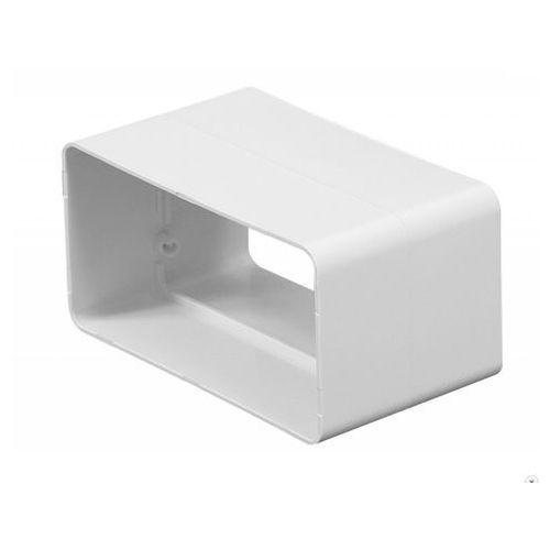 Łącznik nypel kanałów płaskich wentylacyjnych ABS Awenta KP55-21 - 55x110