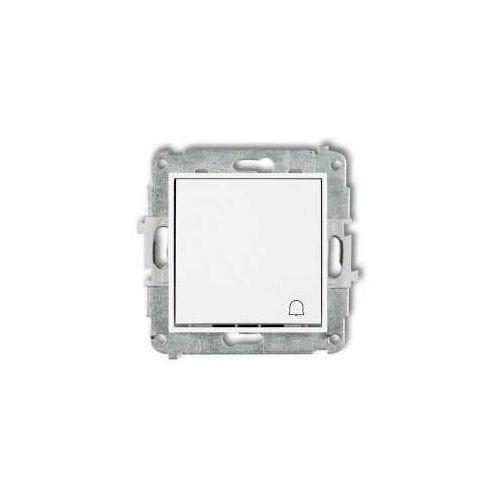 Przycisk zwierny dzwonek mini mwp-4 podtynkowy biały marki Karlik