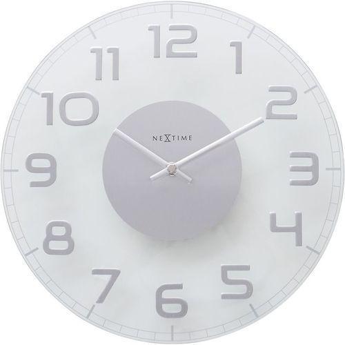 Nextime - zegar ścienny classy round - transparentny