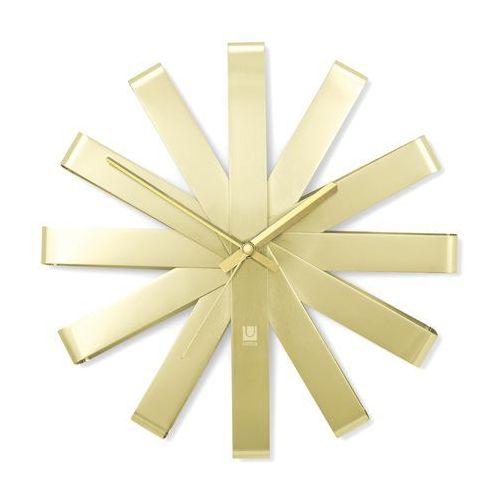 Zegar ścienny Umbra Ribbon brass 30 cm