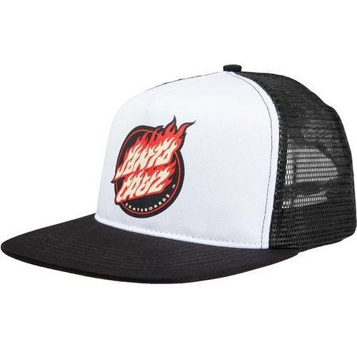 czapka z daszkiem SANTA CRUZ - Flame Dot Cap Black (BLACK) rozmiar: OS, kolor czarny