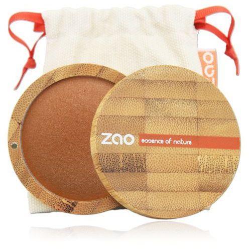 Puder brązujący zao - 343 - złocony brąz marki Zao - make up organic