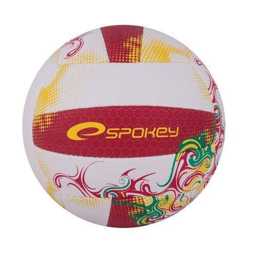Spokey Piłka siatkowa eos czerwono-żółty (rozmiar 5) (5901180373869)