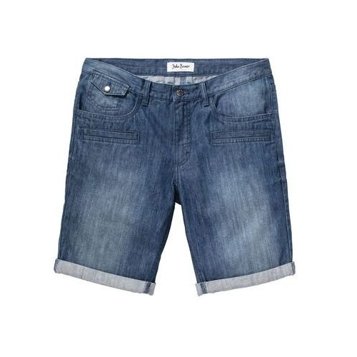 "Bonprix Bermudy dżinsowe regular fit niebieski ""stone"