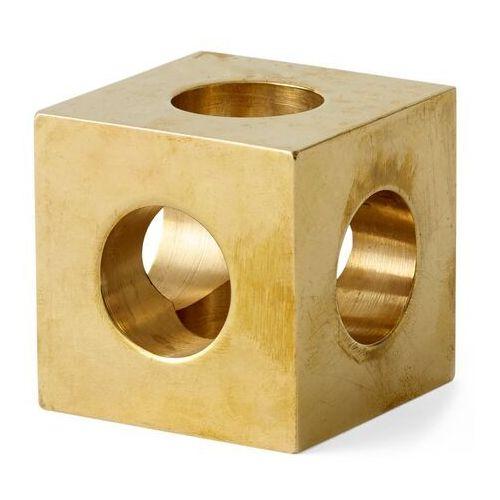 Świecznik cube brass marki Menu