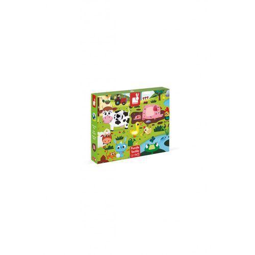 Puzzle sensoryczne 20 elementów Farma - Janod (3700217327729)