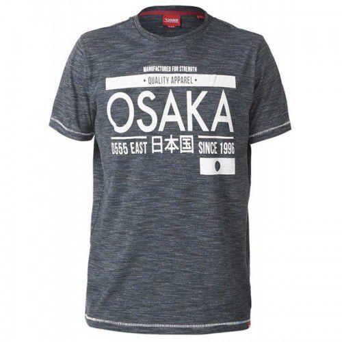 Edinson-d555 t-shirt męski grafitowy duże rozmiary, Duke
