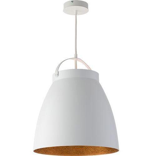 Lampa wisząca Sigma Neva M biały miedziany klosz, kolor Biały