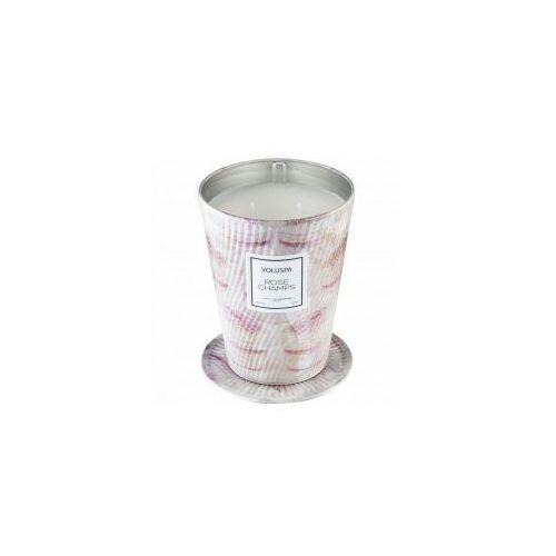 VOLUSPA świeca ROSE CHAMPS GIANT 737G - wosk kokosowy, dwa knoty (5900000050126)