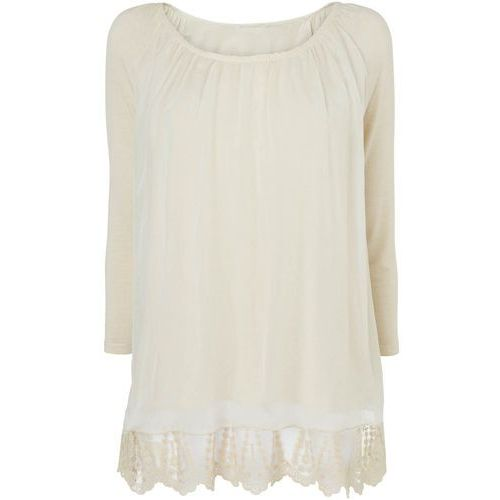 Phase Eight Padma Silk and Jersey 3/4 Sleeve Blouse