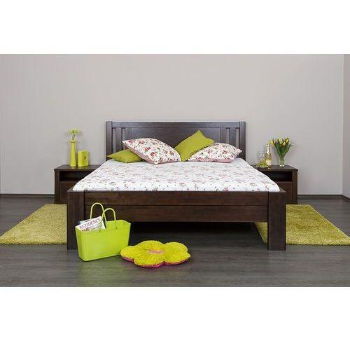 łóżko celin h2 buk olejowany 180x200 (wybierz olejowanie) cm marki Dlaspania