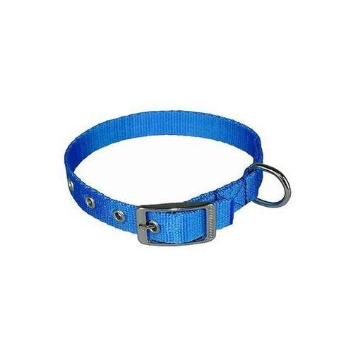 Chaba obroża dla psa taśmowa lux gładka, regulowana - obwód szyi 37cm-44cm - 37cm-44cm \ niebieski