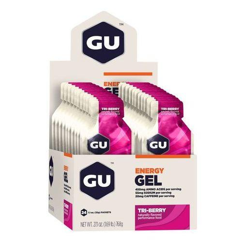 Gu energy gel żywność dla sportowców tri berry 24x 32g 2018 batony i żele energetyczne (0769493200068)
