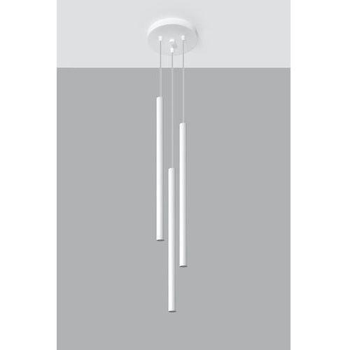 Sol Lampa wisząca sl.467 minimalistyczna oprawa zwis kaskada tuby białe