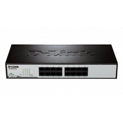 D-Link DES-1016D switch L2 16x10/100 Desktop/Rack 19'' Metal NO FAN