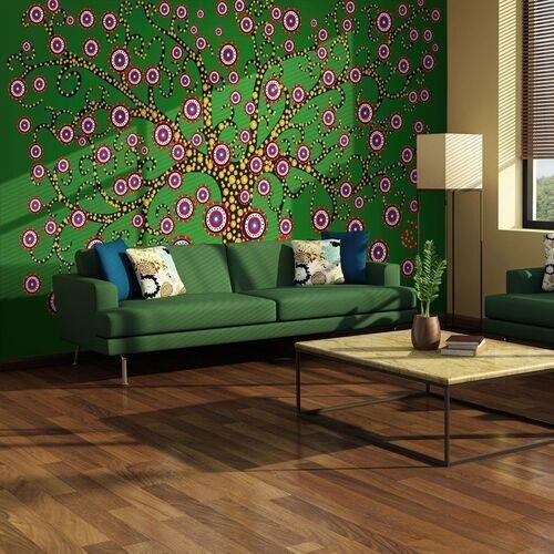Fototapeta - abstrakcja: drzewo (zielony) marki Artgeist