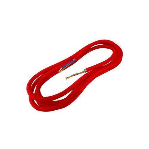 Przewód ELEKTRYCZNY DIC0330 W OPLOCIE CZERWONY 3 m DPM SOLID, kolor czerwony