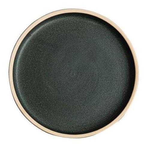 Płaski okrągły talerz, patynowa zieleń 180mm Olympia Canvas (Zestaw 6 sztuk)