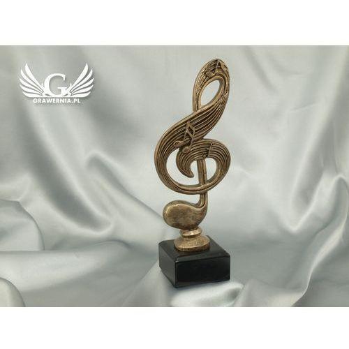 Statuetka klucz wiolinowy - atrakcyjna figurka odlewana - wysokość 22,5 cm marki Grawernia.pl - grawerowanie i wycinanie laserem
