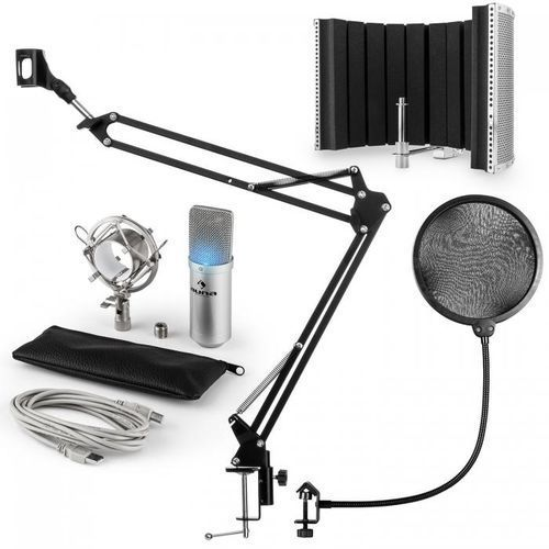 MIC-900S-LED USB zestaw V5 mikrofon pojemnościowy pop filtr ramię sterujące