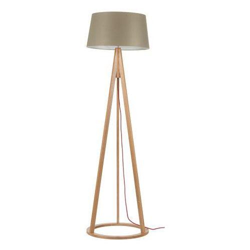 Lampa podłogowa Konan dąb/czerwony/szaro-brązowy E27 60W (5901602336861)