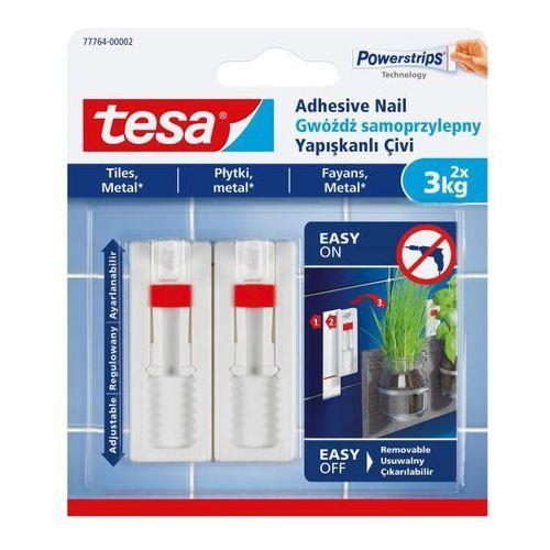 Gwoździe samoprzylepne regulowane do płytek udźwig 3 kg 2 szt. marki Tesa