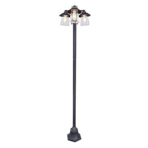 CATE Rustykalny brąz 3xE27 wys. 1,9m. IP44 Lampa ogrodowa potrójna stojąca, 7264230213