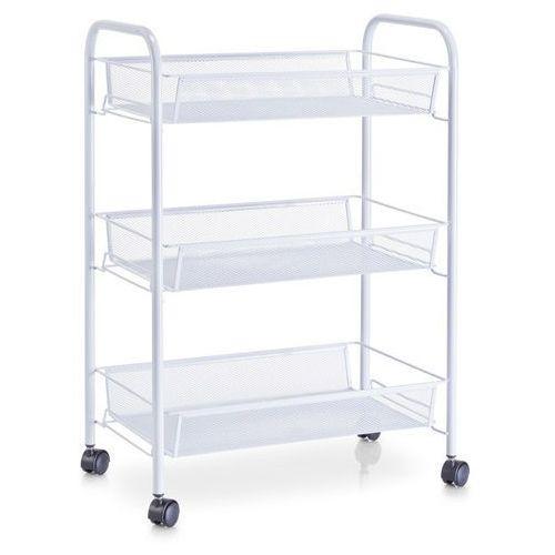 Wózek łazienkowy, regał na przybory - 3 poziomy, biały, marki Zeller