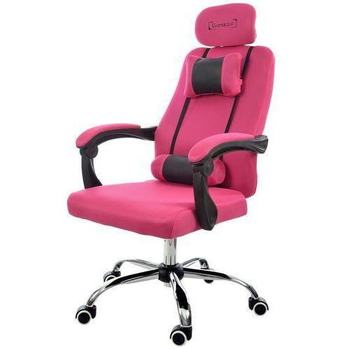 Fotel biurowy GIOSEDIO różowy, model GPX012 (5902751542196)