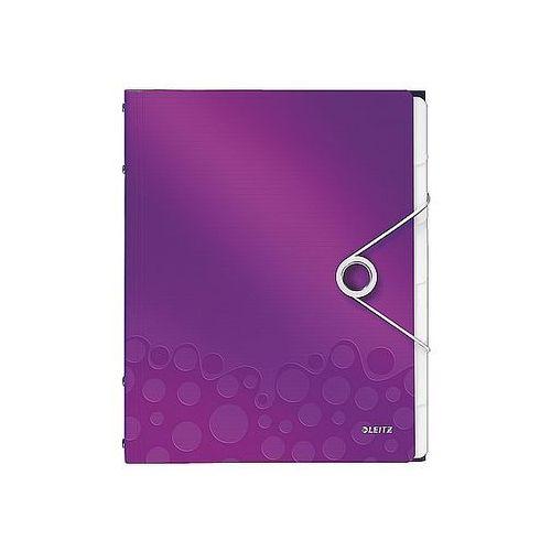 Teczka segregująca wow 6 przekładek metaliczna fioletowa 46330062 marki Leitz