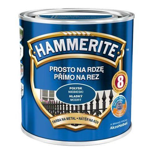 Hammerite Prosto na rdzę - efekt połysk niebieski 0,25l