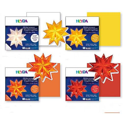Papier do origami 20x20  transparentny biały marki Heyda