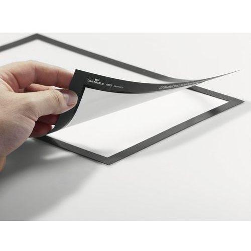 Ramka samoprzylepna magaframe - 4871, a5/2szt. srebrna marki Durable